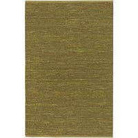 Hand-woven Cottage Lime Green Natural Fiber Jute Area Rug (3'6 x 5'6)