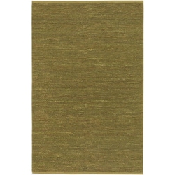 Hand-woven Cottage Lime Green Natural Fiber Jute Area Rug (5' x 8') - Thumbnail 0