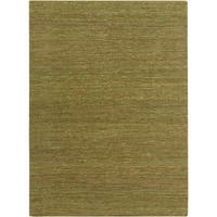Hand-woven Cottage Lime Green Natural Fiber Jute Area Rug - 8' x 11'
