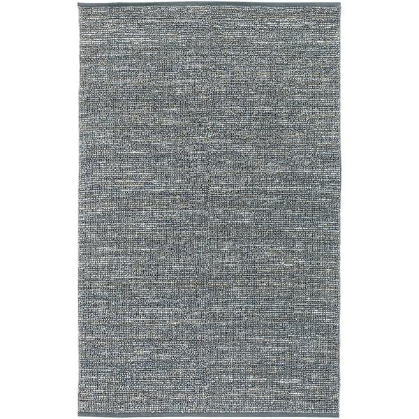 Hand-woven Cottage Slate Natural Fiber Jute Area Rug - 5' x 8'