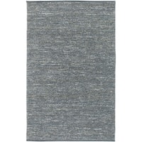 Hand-woven Cottage Slate Natural Fiber Jute Area Rug - 5' x 8'