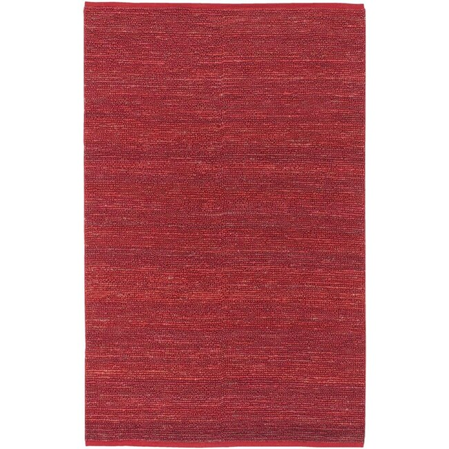 Hand-woven Cottage Red Natural Fiber Jute Rug (3'6 x 5'6)