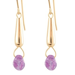 14k Gold Fill 'Frosted Orchid' Dangle Earrings
