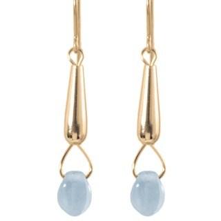 14k Gold Fill 'Rain Drop' Glass Earrings