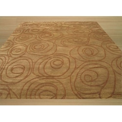 Hand-tufted Shelby Green Wool Rug (7' 9 x 9'9)