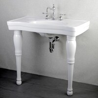 Imperial Vintage 36 Inch Wall Mount Pedestal 8 Center Bathroom Sink Vanity