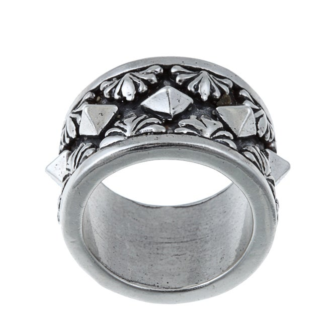 Kabella Gerald David Bauman Sterling Silver Oxidized Pyramid Ring