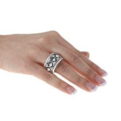 Kabella Gerald David Bauman Sterling Silver Oxidized Pyramid Ring - Thumbnail 2
