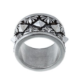 Kabella Gerald David Bauman Sterling Silver Oxidized Pyramid Ring - Thumbnail 0