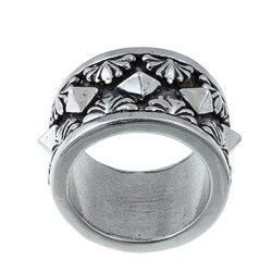 Kabella Gerald David Bauman Sterling Silver Oxidized Pyramid Ring (4 options available)