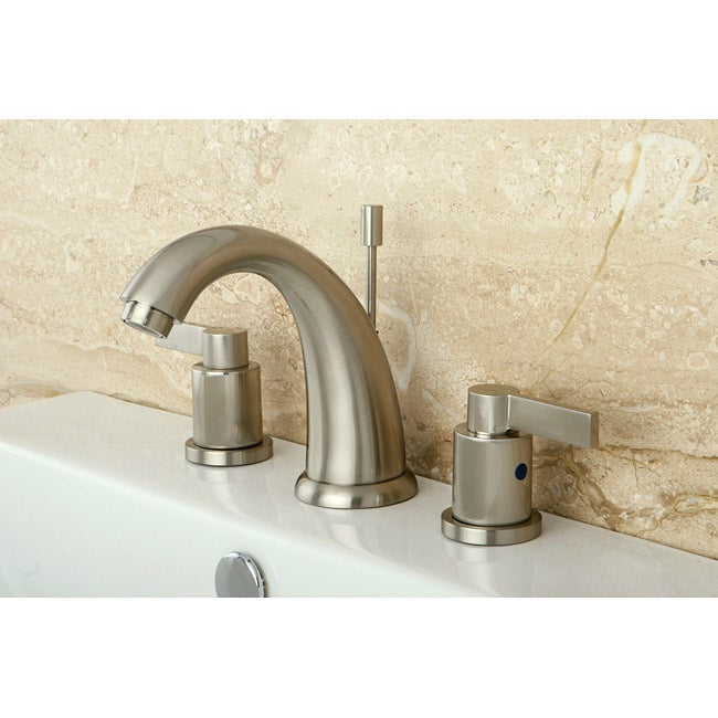 Nuvofusion Goose Neck Widespread Satin Nickel Bathroom Faucet Free Shipping Today Overstock
