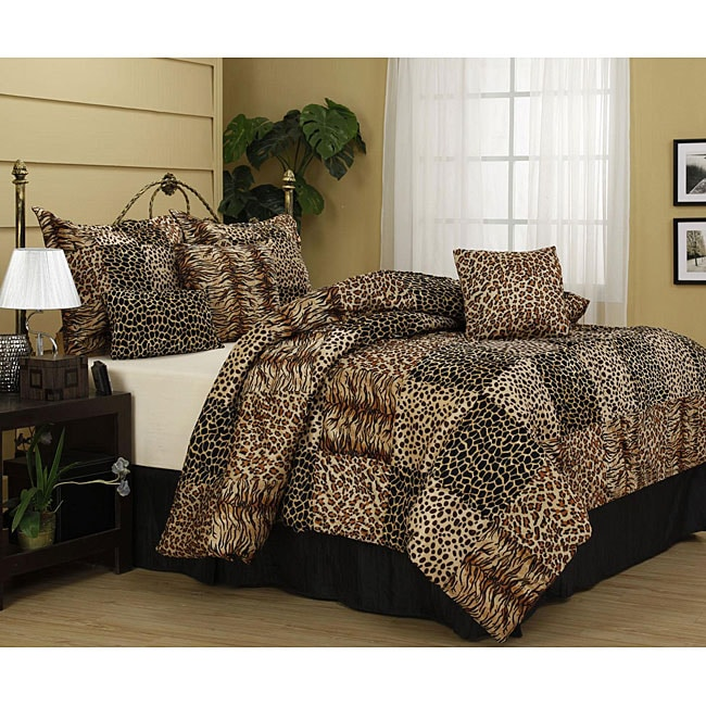 cameroon 7 piece animal patchwork comforter set free shipping today