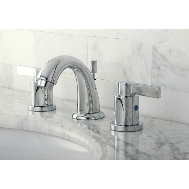 Shop Nuvofusion Goose Neck Mini Widespread Chrome Bathroom Faucet Free Shipping Today
