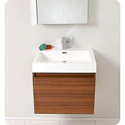 ... Thumbnail Fresca Nano Teak Bathroom Vanity with Medicine Cabinet - Brown ...