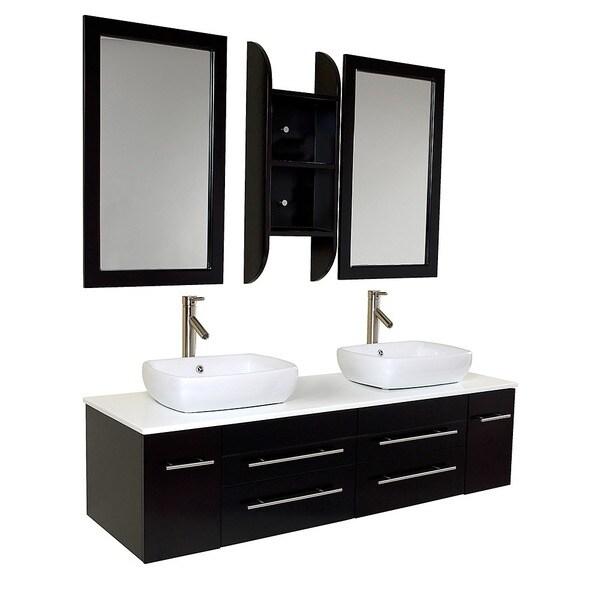 Fresca Bellezza Espresso Double-vessel Sink Bathroom Vanity