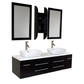 Fresca Bellezza Espresso Double-vessel Sink Bathroom Vanity