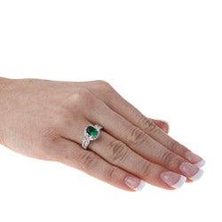 Sterling Essentials Sterling Silver Cubic Zirconia Cocktail Ring - Thumbnail 2