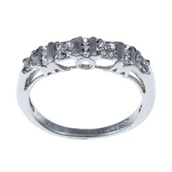 Sterling Essentials Sterling Silver Cubic Zirconia Band Ring