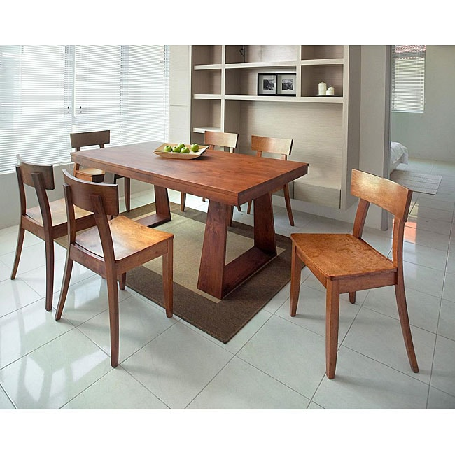 Emily New Oak 7-piece Dining Set