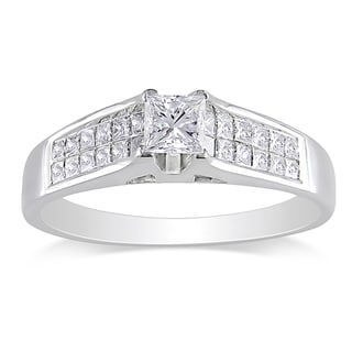 Miadora Signature Collection 18k White Gold 1ct TDW Diamond Engagement Ring