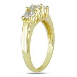 Miadora 14k Yellow Gold 1ct TDW Diamond 3-stone Ring (G-H, I1-I2)