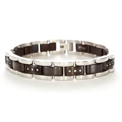 Men's Stainless Steel and Cubic Ziconia Bracelet