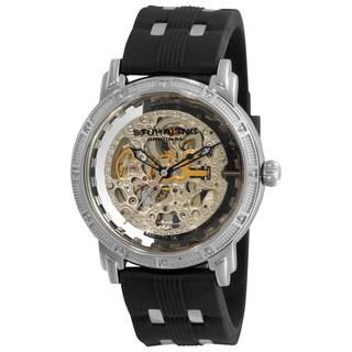 Stuhrling Original Men's Stainless-Steel Winchester Cavalier Skeleton Automatic Watch