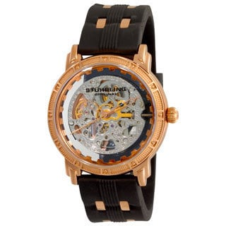 Stuhrling Original Men's Rosetone Winchester Cavalier Skeleton Automatic Watch