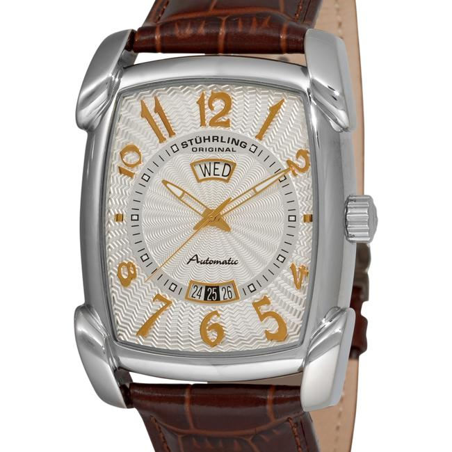 Stuhrling Original Men's The Madison Automatic Classic Watch with Brown Leather Strap