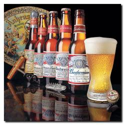 'Budweiser - 5 Generations of Bottles' Gallery-Wrapped Canvas Art - Thumbnail 1