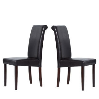 Warehouse of Tiffany Brown Rubberwood Dining Chairs (Set of Four)