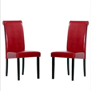 Warehouse of Tiffany Red Upholstered Dining Chairs (Set of 4)