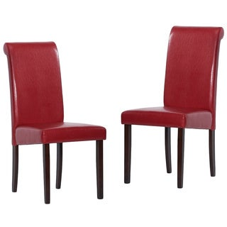 Warehouse of Tiffany Red Upholstered Dining Chairs (Set of 2)