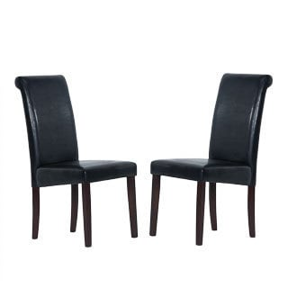 Warehouse of Tiffany Black Dining Chairs (Set of 8)
