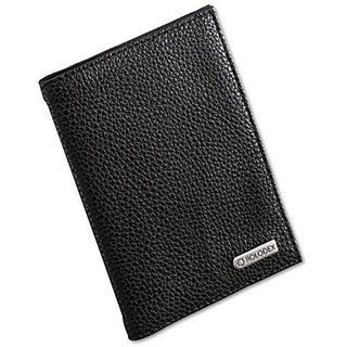 Rolodex Low-profile Black Faux-leather Passport Folio with Extra Pockets