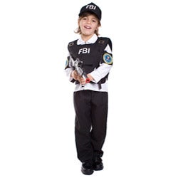 Dress Up America Kid's 4-piece FBI Agent Costume