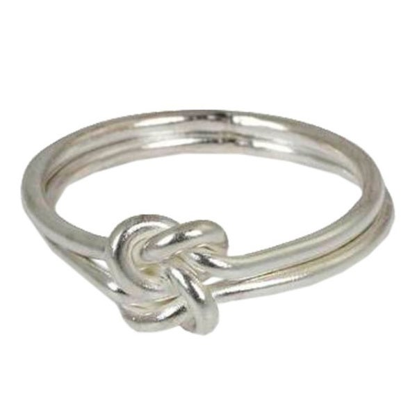 Handmade Sterling Silver 'Love Knot' Cocktail Ring (Thailand)