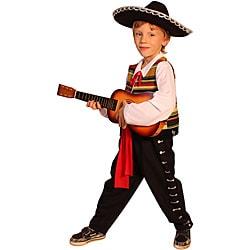 Dress Up America Kid's Mexican Mariachi Costume (Option: Black)