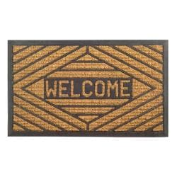 Welcome Coir Stripe Door Mat (30 x 18)