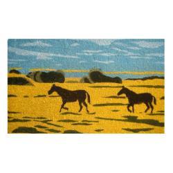 Silhouetted Horses Coir Door Mat (30 x 18)