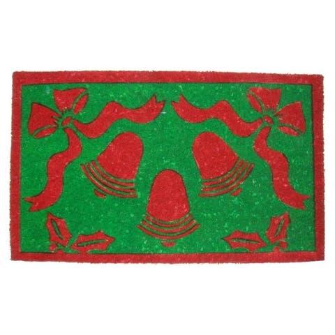 Christmas Bells Coir Door Mat (30 x 18) - 30 x 18