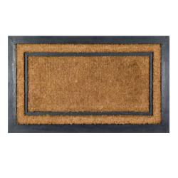 Thumbnail 2, York Rectangle Coir Border Door Mat (30 x 18) - 30 x 18. Changes active main hero.