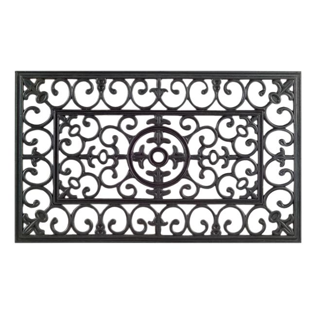 Lovely Napoleon Black Rubber Door Mat (30 X 18)
