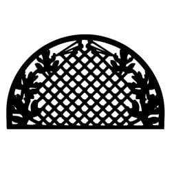 Grid Leaves Half Round Door Mat (30 x 18)