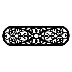 Elliptical Curl Door Mat (30 x 10) - Thumbnail 1