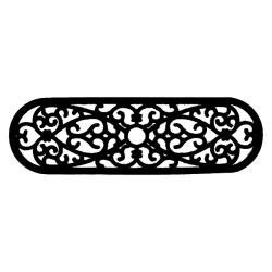 Elliptical Curl Door Mat (30 x 10) - Thumbnail 2