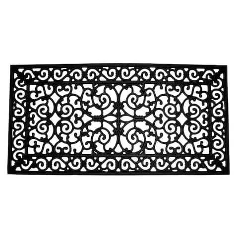 Brooklyn Black Rubber Door Mat (24 x 48) - 24 x 48
