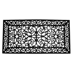 Brooklyn Black Rubber Door Mat (24 x 48)