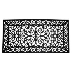 brooklyn black rubber door mat 24 x 48