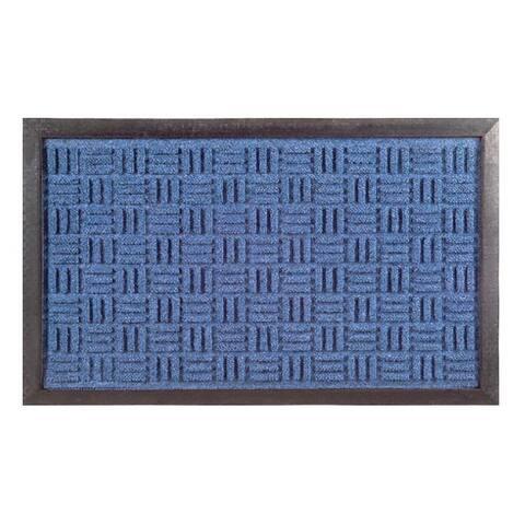 Synthetic Blue Door Mat (24 x 16) - 24 x 16